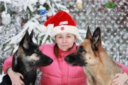 Аладея и Муза. Любимую снегурку охраняем надежно!