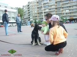 На прогулке в Минске. Аладее 3 мес.