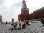 Оздер Русский Риск на Красной площади, фото с прохожими.