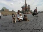 Оздер Русский Риск на Красной площади с прохожими.