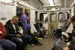 Оздер Русский Риск в московском  метро, осень 2011.