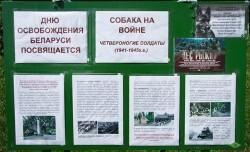 Стенд Дню освобождения Беларуси. Вилейка, 30.06.18.